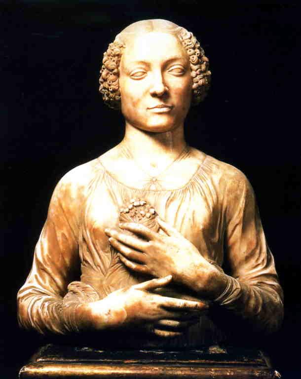 The Lady with the Primroses by Andrea del Verrocchio.