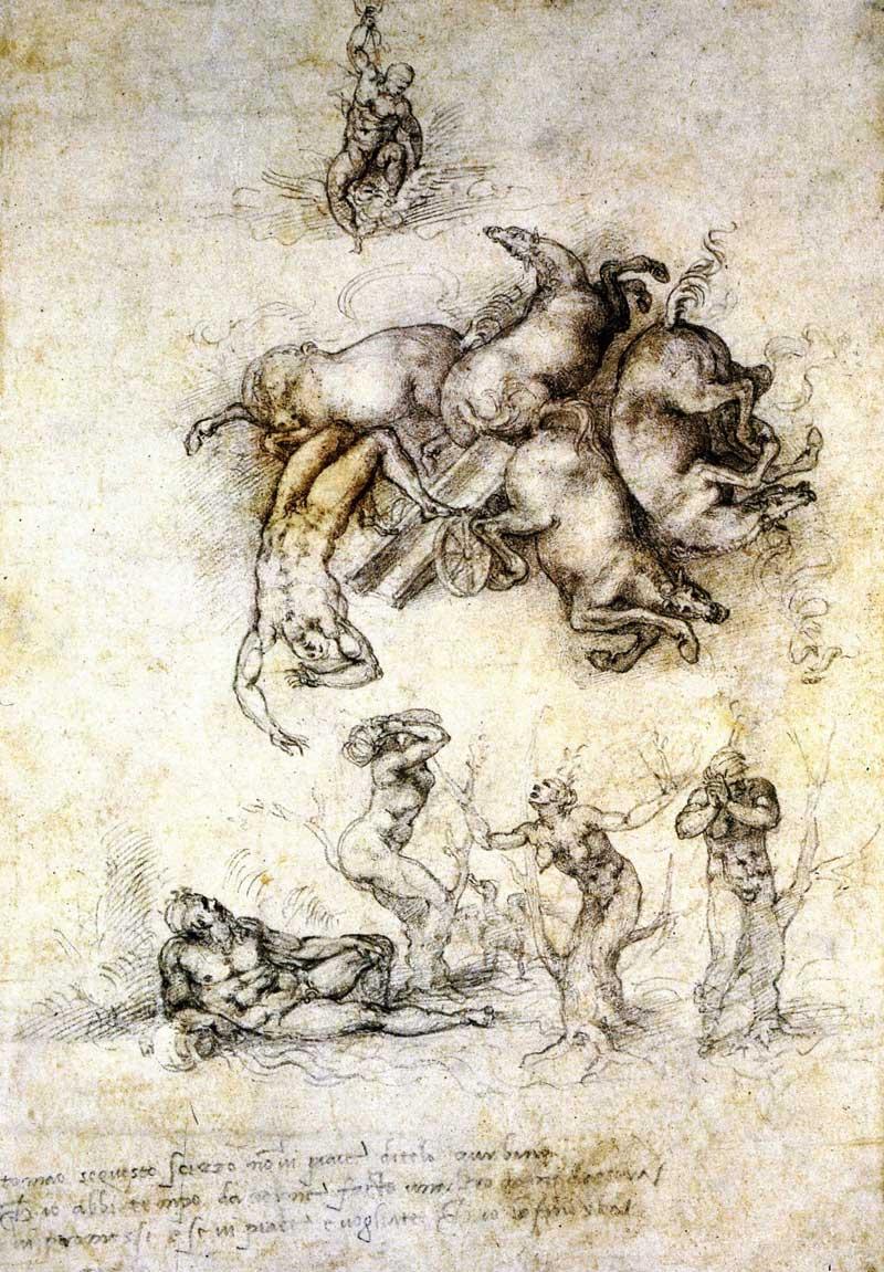 The Fall of Phaeton 1, Michelangelo