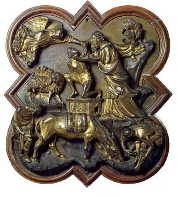Sacrifice of Abraham by Brunelleschi