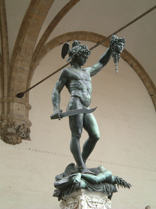 Perseus with the head of the Medusa, 1545/54. Bronze, Florence, Italy