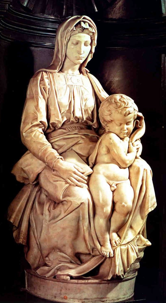 Michelangelo's marble masterpiece, the Bruges Madonna.
