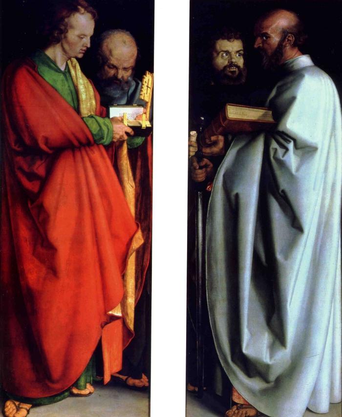 Albrecht Durer's Four Saints.
