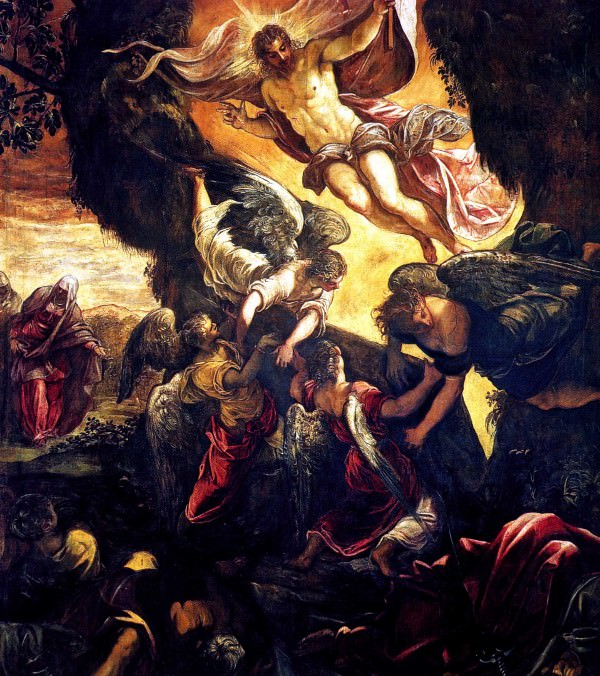 The resurrection of Christ by Tintoretto.