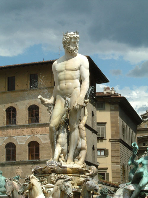 Neptune Fountain by Bartolomeo Ammanati, marble and bronze, Florence.