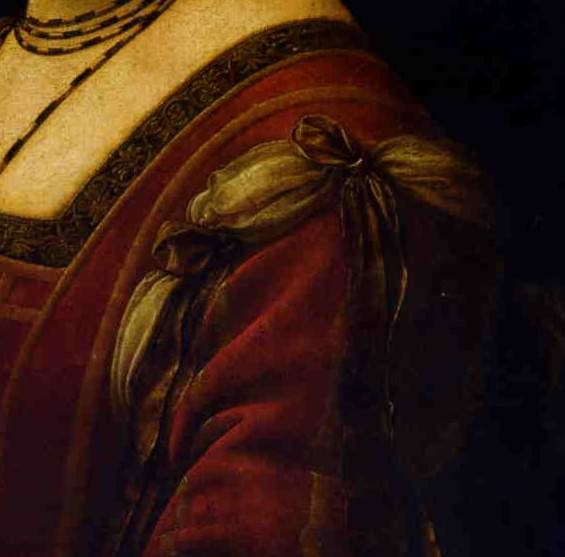 Detail of a sleeve, Leonardo da Vinci.