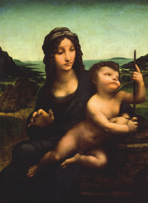 The Madonna of the Yarnwinder by Leonardo da Vinci and his followers.