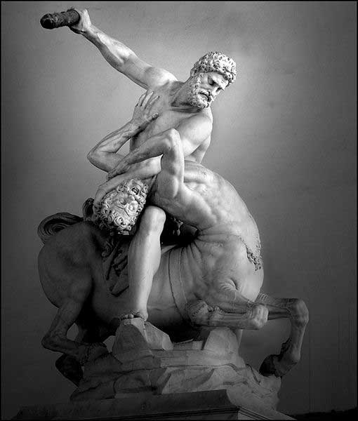 Hercules and the Centaur Nessus by Giambologna, Florence Italy (photo by Ricardo Andre Frantz)