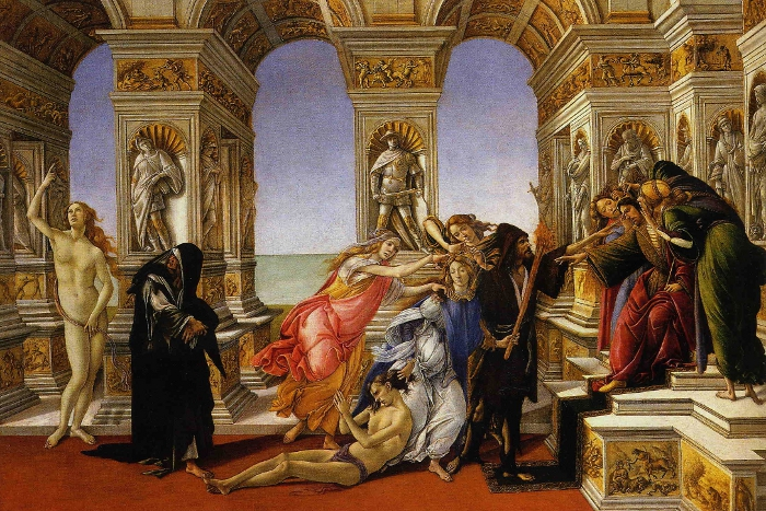 The Calumny of Apelles by Sandro Botticelli.