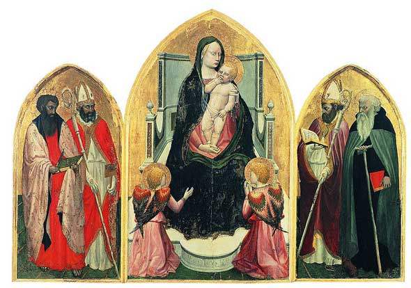 The San Giovenale Triptych by Masaccio, 1422.