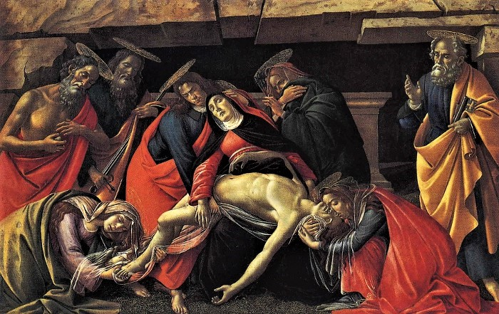 Lamentation over the Dead Christ by Sandro Botticelli.