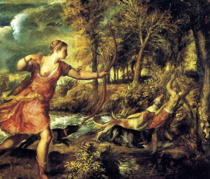Titian's Death of Actaeon.