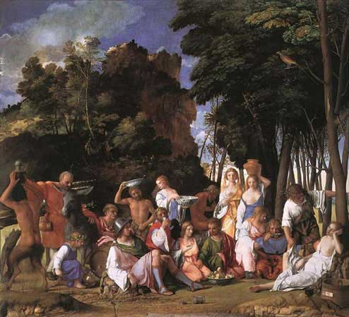The feast of the Gods by Bellini and Titian