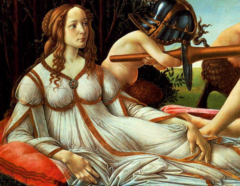 Botticelli's Venus and Mars (detail)