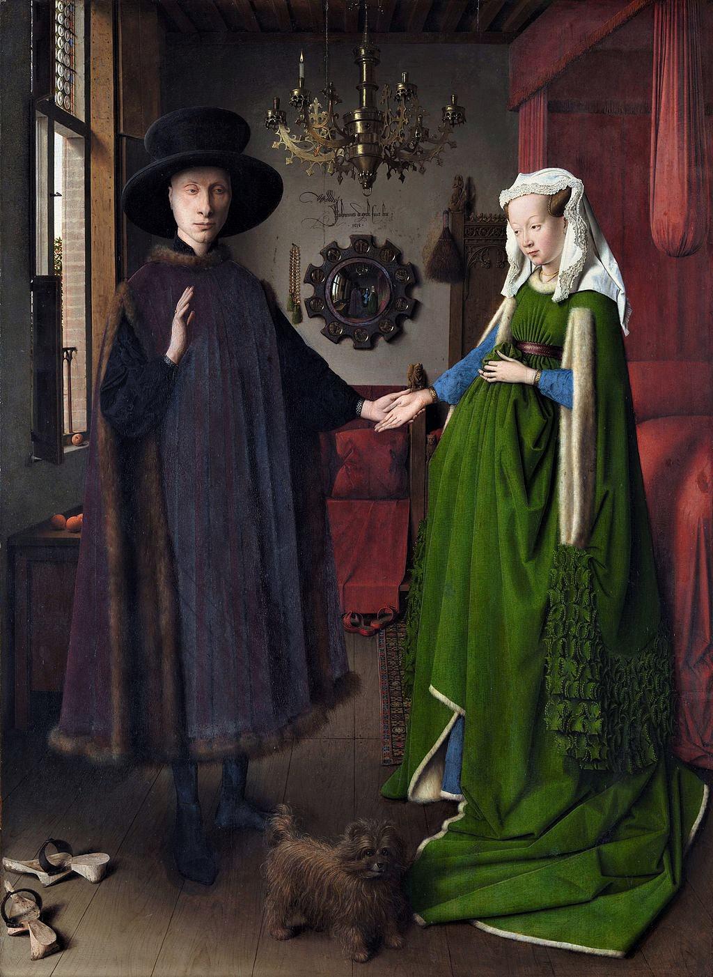 Jan van Eyck, Arnolfini Marriage Portrait.