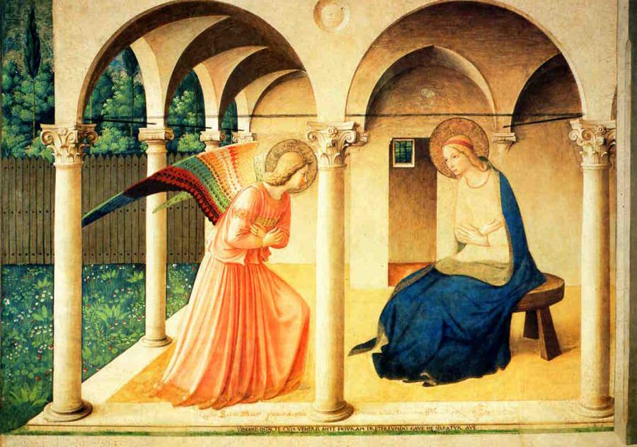 Fra Angelico, The Annunciation, San Marco, Florence.