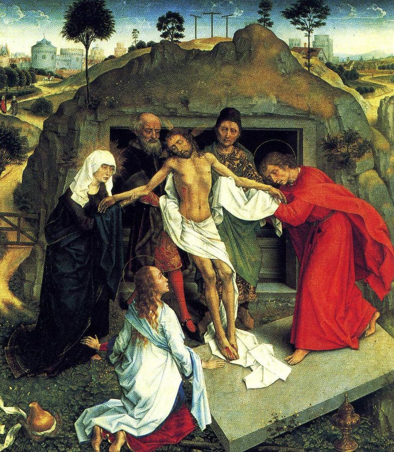 Entombment by Van der Weyden
