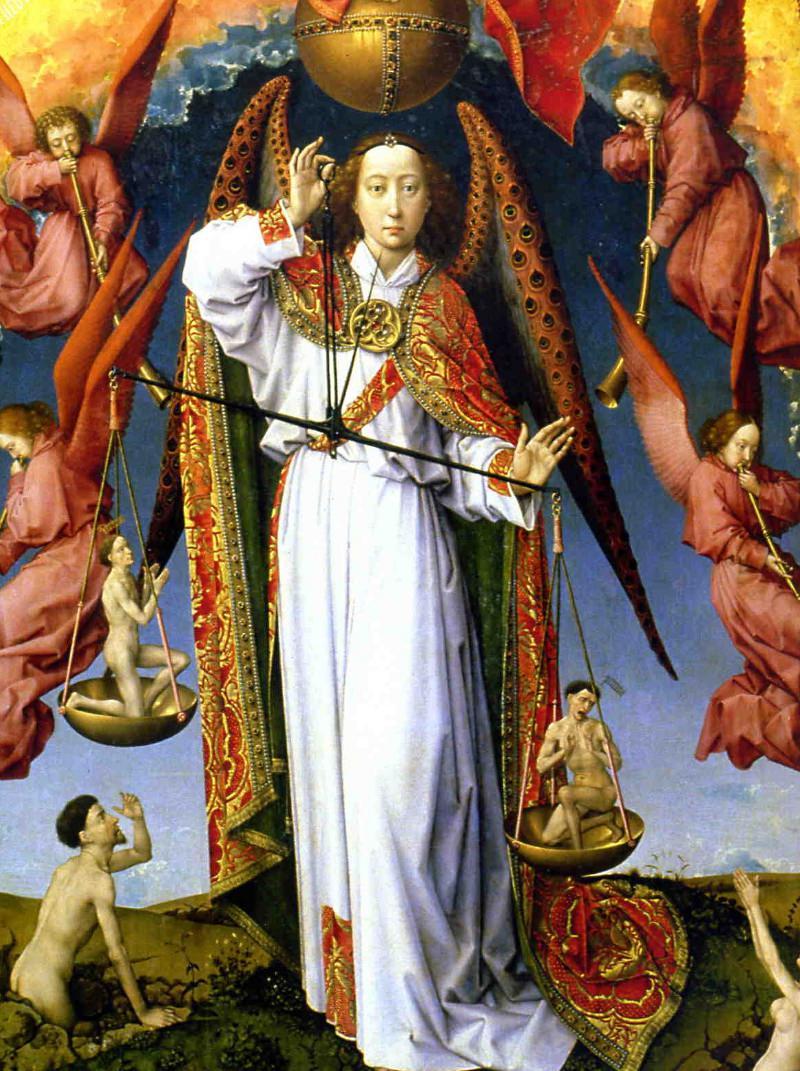 St Michael from Rogier van der Weyden's Last Judgement, the Beaune Altarpiece.