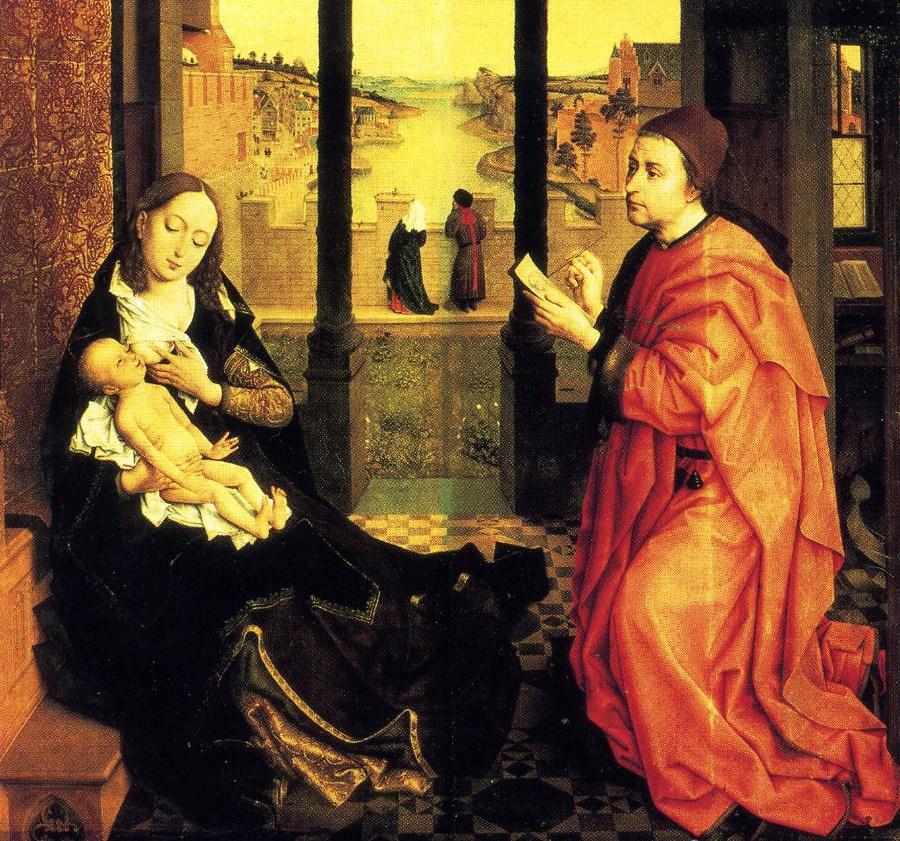 Van der Weyden, St Luke painting the Virgin.