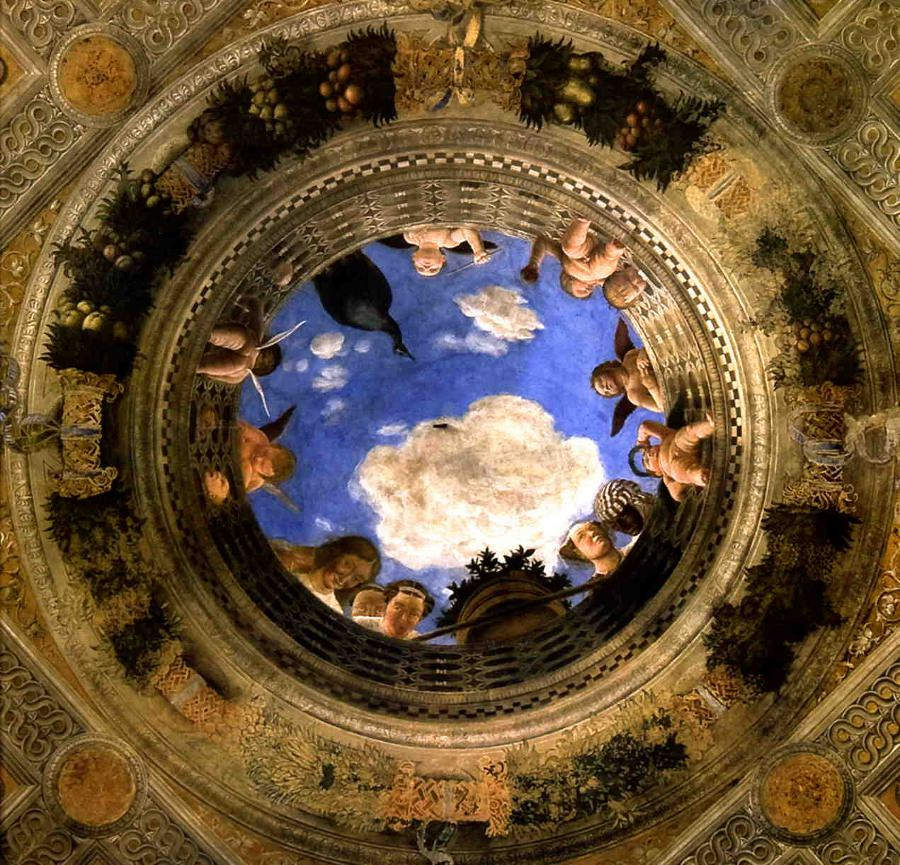 The Ceiling of the Camera degli Sposi by Andrea Mantegna