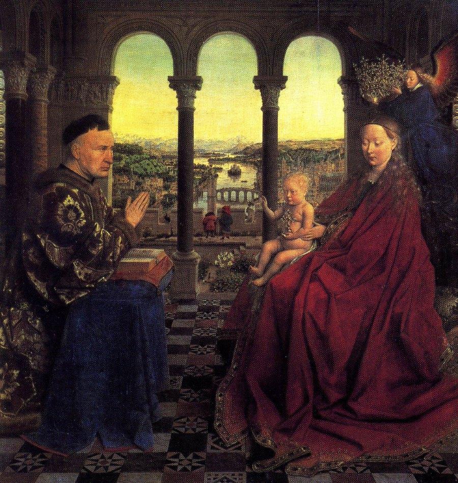 Jan van Eyck, Madonna of Chancellor Rolin.