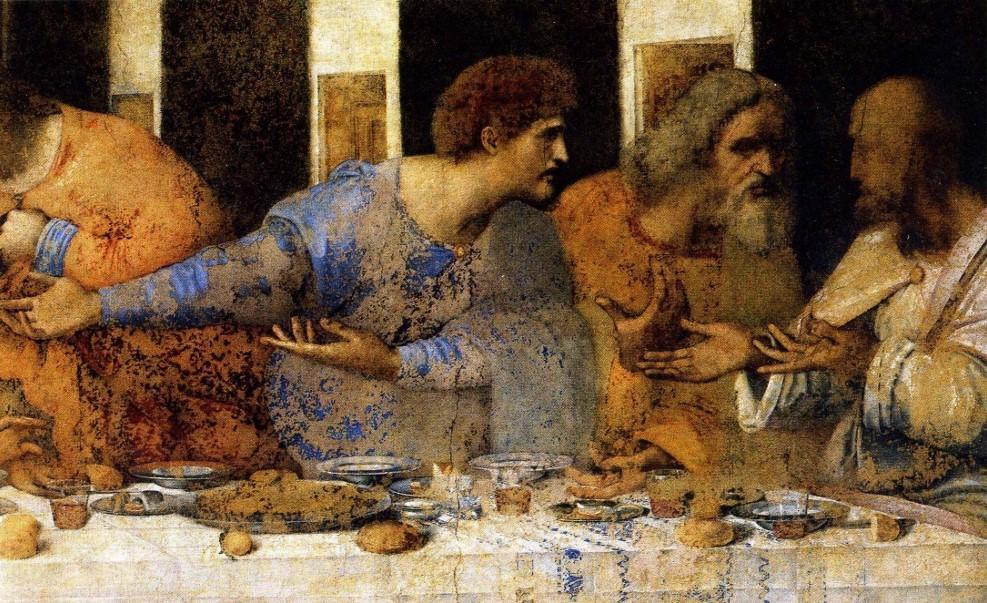 Detail of Leonardo da Vinci's Last Supper.