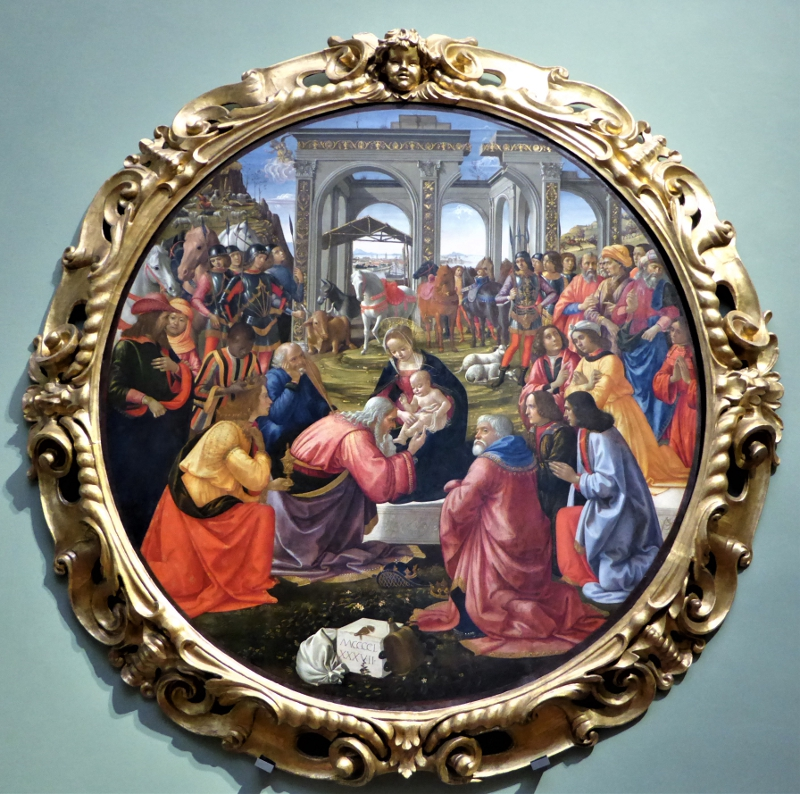 Adoration of the Magi, Domenico Ghirlandaio, Uffizi, Florence, Italy