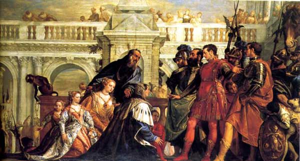 Alexander and the family of Darius by Veronese