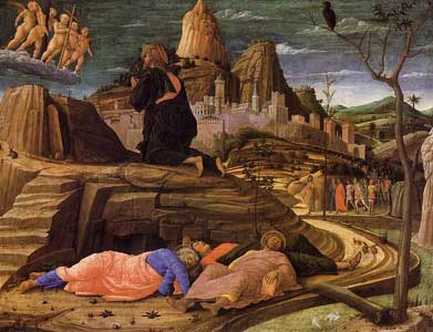 Agony in the Garden by Andrea Mantegna