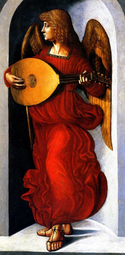 Angel playing the Lute by Ambrogio de Predis'
