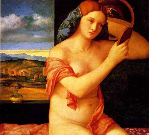 Lady combing her hair by Giovanni Bellini