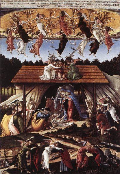 The Mystical Nativity by Sandro Botticelli
