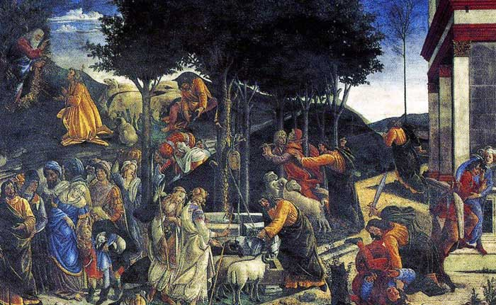The Life of Moses by Sandro Botticelli
