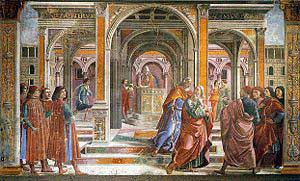 The Expulsion of Joachim from the Temple by Ghirlandaio