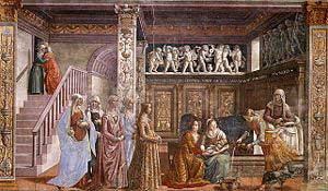 Nativity of Mary by Ghirlandaio