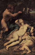 Venus and Cupid by Correggio
