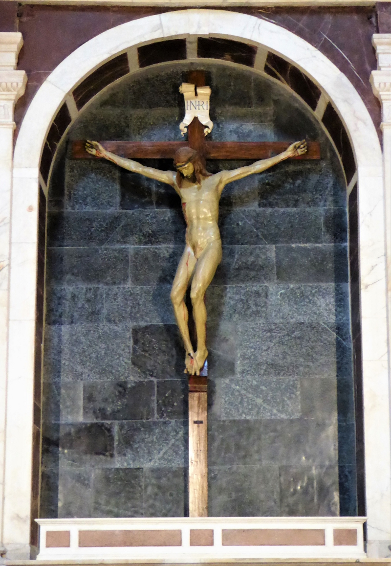 Filippo Brunelleschi's Crucifix in the Santa Maria Novella, Florence, Italy
