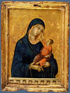 The Madonna and Child by Duccio.