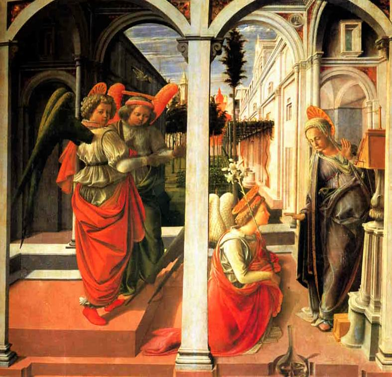 Fra Filippo Lippi, Annunciation, San Lorenzo, Florence.