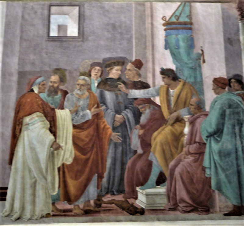 Filippino Lippi Disputation, Branccaci Chapel, Florence, Italy.