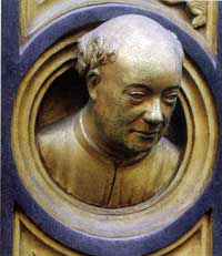 Lorenzo Ghiberti, self portrait.