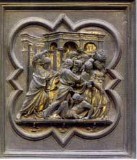 Panel from the Baptistery of Florence (north door) & Lorenzo Ghiberti