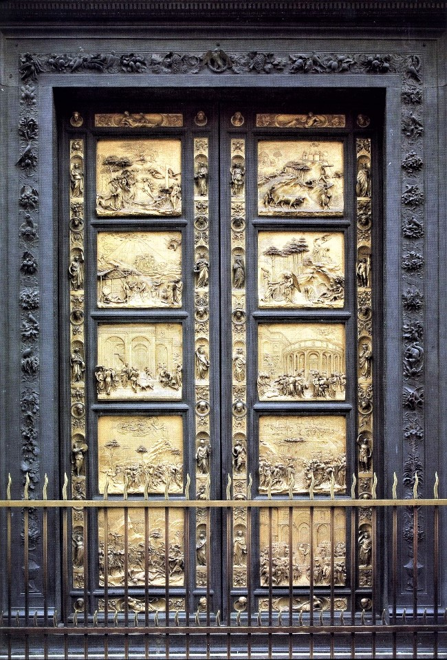 Lorenzo Ghiberti. The Gates of Paradise Baptistery Florence (s) & Renaissance Sculpture masterpieces greatest works from the period
