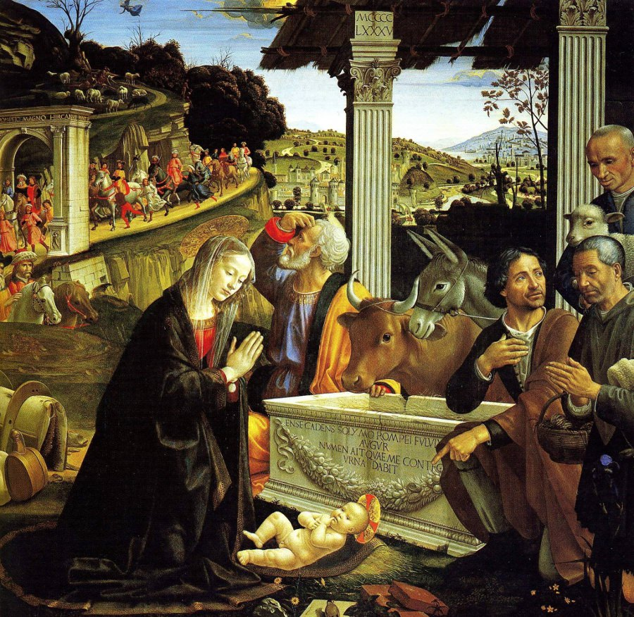 The Adoration of the Shepherds by Ghirlandaio