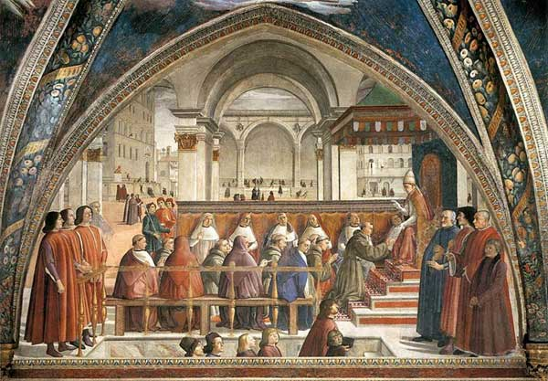 Confirmation of the Franciscan Rule by Ghirlandaio
