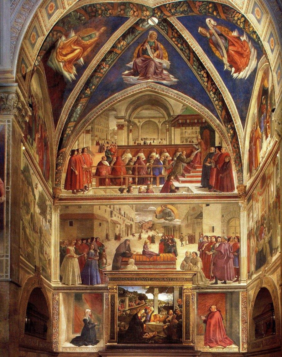 Domenico Ghirlandaio, Sassetti Chapel, Altar, Santa Trinita, Florence.