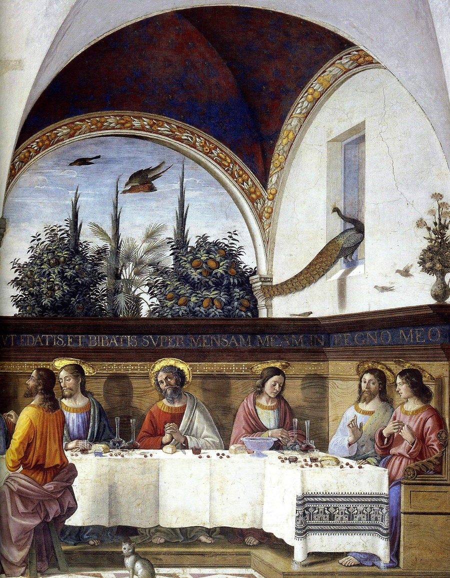 The Last Supper (detail) by Domenico Ghirlandaio
