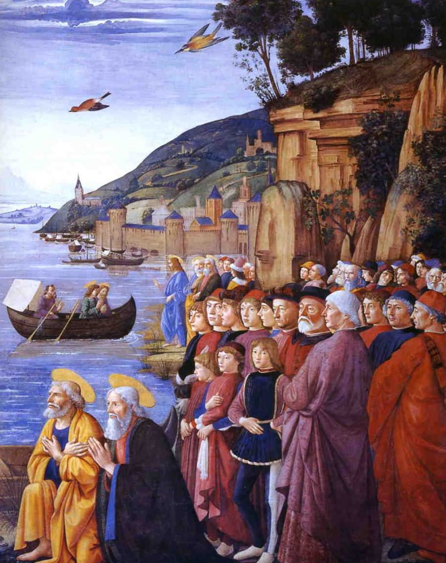 Domenico Ghirlandaio, The Vocation of Peter and Andrew, Sistine Chapel, Rome.