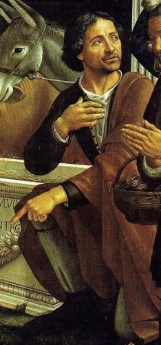 Domenico Ghirlandiaio self-portrait.