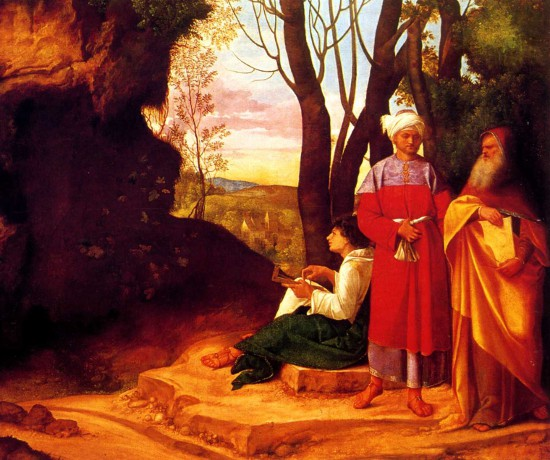 Giorgione's Three Philosophers.