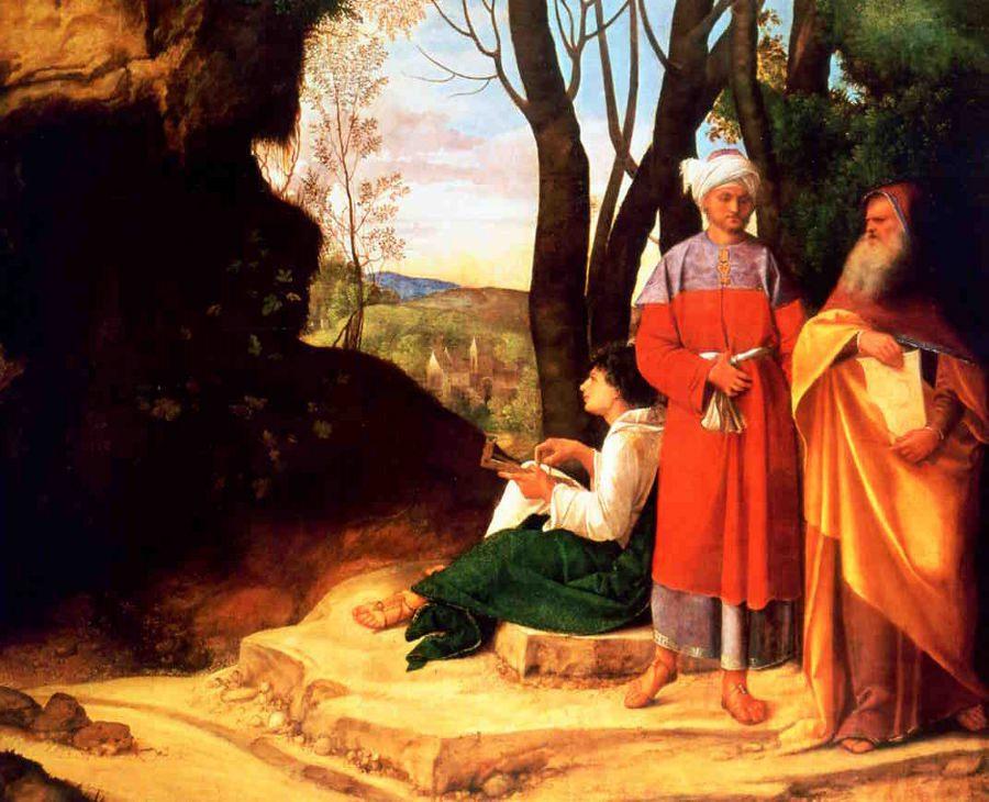 Giorgione's Three Philosophers.